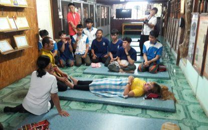 """โครงการฝึกอบรมวิชาชีพระยะสั้น """"นวดแผนไทยไสตล์พุทธศาสน์"""" 12 – 14 มีนาคม 2561 ณ โรงเรียนมหาบุญการนวดไทย อำเภอโชคชัย จังหวัดนครราชสีมา"""