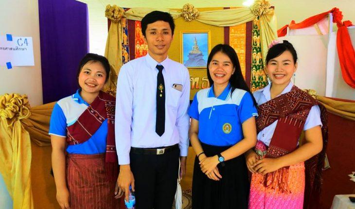 นักศึกษาหลักสูตรครุศาสตรบัณฑิต สาขาวิชาพุทธศาสนศึกษา เข้าร่วมกิจกรรมการจัดบูธนิทรรศการงานการประชุมวิชาการครุศาสตร์ราชภัฎวิชาการ ประจำปีการศึกษา 2560