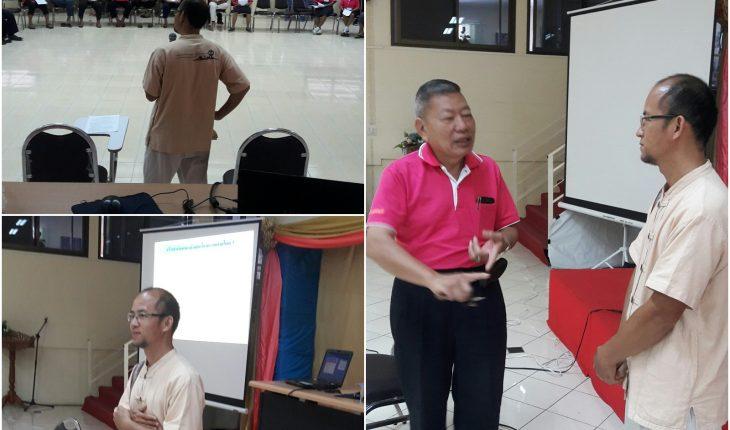 คณาจารย์หลักสูตรพุทธศาสนศึกษา บริการวิชาการอบรมให้ความรู้ในโครงการพัฒนาคุณภาพชีวิตผู้สูงอายุตำบลหนองบัวศาลา (โรงเรียนสร้างสุข) ณ อบต.หนองบัวศาลา อ.เมือง จ.นครราชสีมา