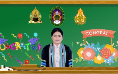 แสดงความยินดีกับนางสาวพรทิทย์ ทองน้อย ศิษย์เก่าสาขาวิชาพุทธศาสนศึกษา ที่ได้บรรจุเป็นข้าราชการครูตำแหน่งครูผู้ช่วย ประจำปี 2561