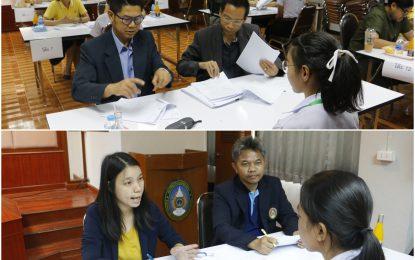 คณาจารย์สาขาวิชาพุทธศาสนศึกษาร่วมเป็นคณะกรรมการสัมภาษณ์นักศึกษาเพื่อรับทุนให้เปล่า (วันไหว้ครู) ประจำปีการศึกษาประจำปีการศึกษา 2562
