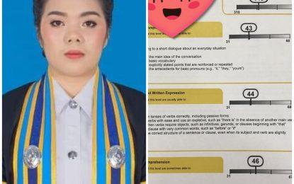 แสดงความยินดีกับ นางสาวจันทนิภา จันทร์อาจ ศิษย์เก่ารุ่นที่ 3  หลักสูตรครุศาสตรบัณฑิต สาขาวิชาพุทธศาสนศึกษา ที่สอบผ่าน TOEFL ตามเกณฑ์กำหนดของคณะกรรมการการอุดมศึกษา