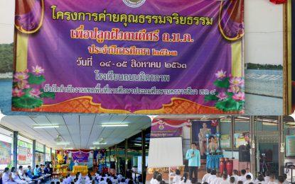 คณาจารย์และนักศึกษาสาขาวิชาพุทธศาสนศึกษา บริการวิชาการให้ความรู้ในโครงการค่ายคุณธรรมจริยธรรมเพื่อปลูกฝังคนดีศรี ถ.ม.ภ. ประจำปีการศึกษา 2563 ระหว่างวันที่ 14 – 15 สิงหาคม 2563 ณ โรงเรียนถนนมิตรภาพ ตำบลลาดบัวขาว อำเภอสีคิ้ว จังหวัดนครราชสีมา