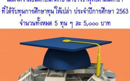 แสดงความยินดีกับนักศึกษาสาขาวิชาพุทธศาสนศึกษา ที่ได้รับทุนการศึกษาทุนให้เปล่า ประจำปีการศึกษา 2563 จำนวน 5 ทุน